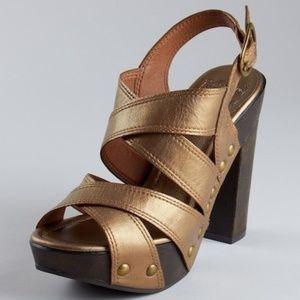 Lucky Brand LK Tessa bronze platform sandal 7